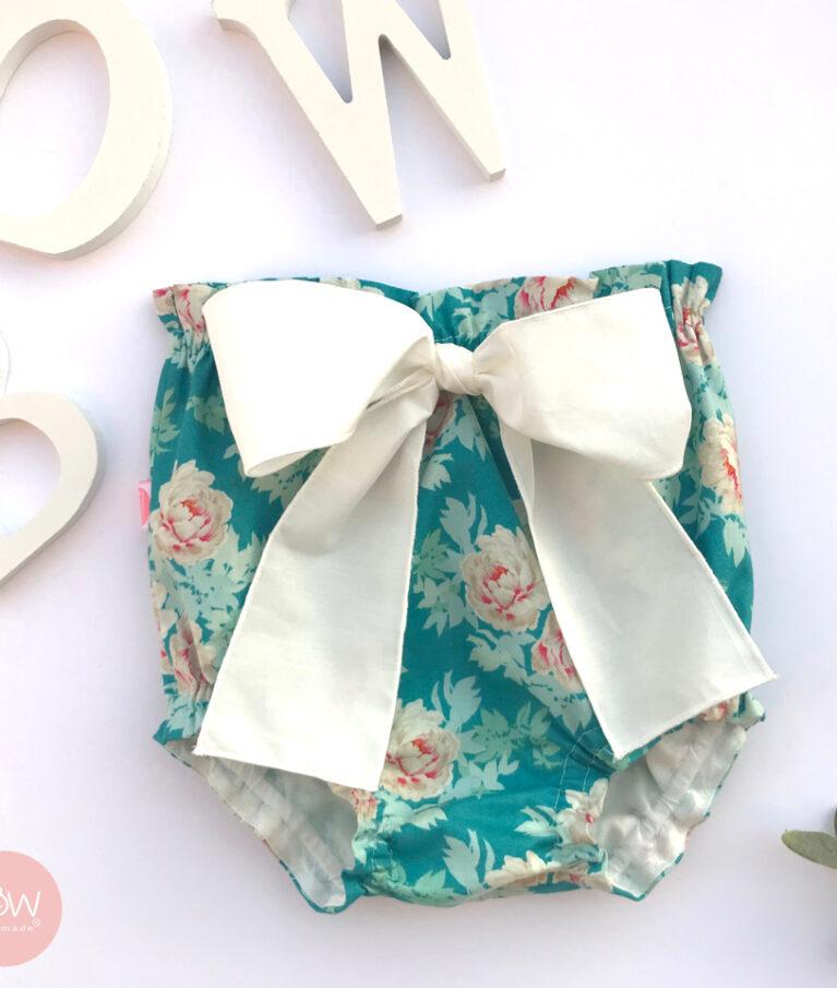 tapa fraldas floral azul