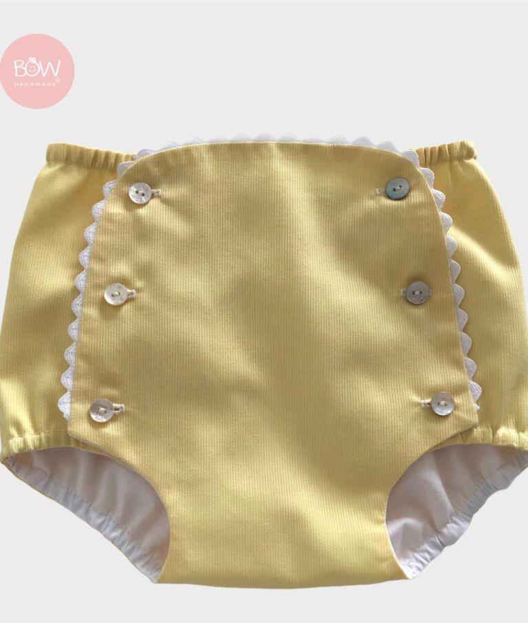 Tapa Fraldas Fustão Amarelo