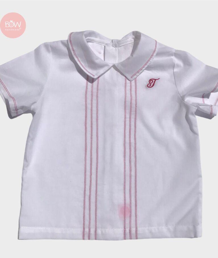 Camisa em cambraia branca